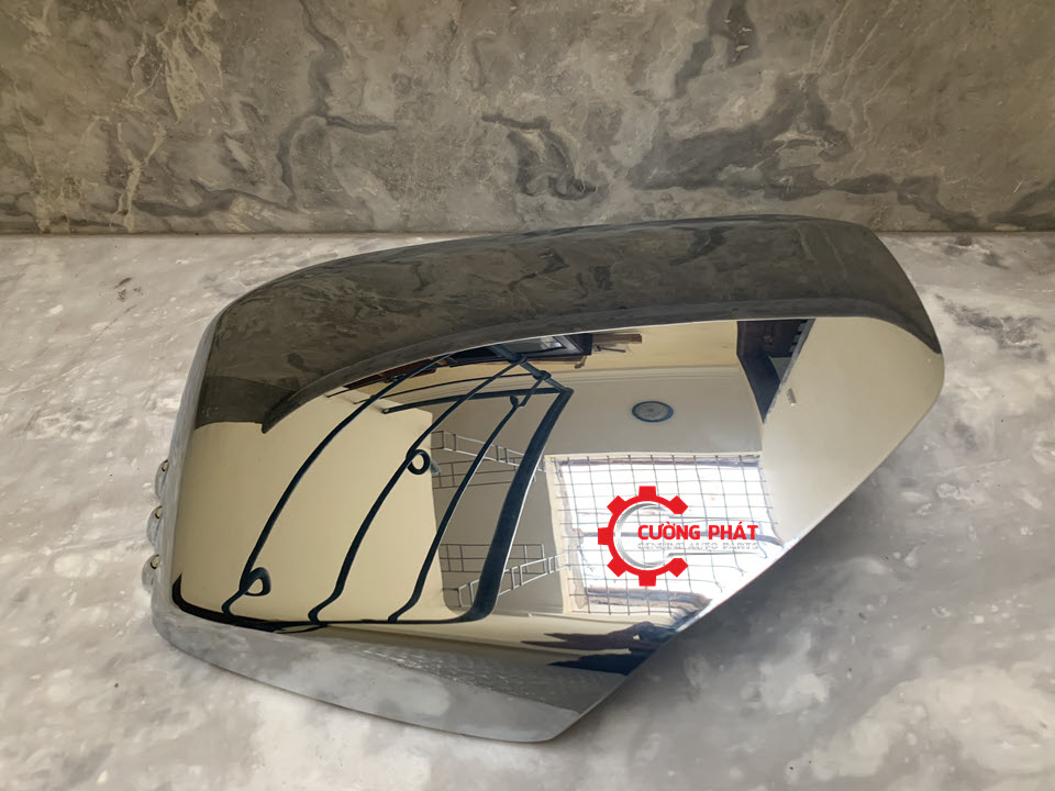 Hình ảnh ốp gương chiếu hậu Mitsubishi Triton, Pajero Sport 2010 chính hãng, ốp mạ, không có xi nhan